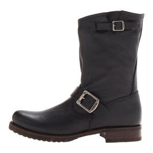Size 9 FRYE Veronica Shortie Black Ankle Boots